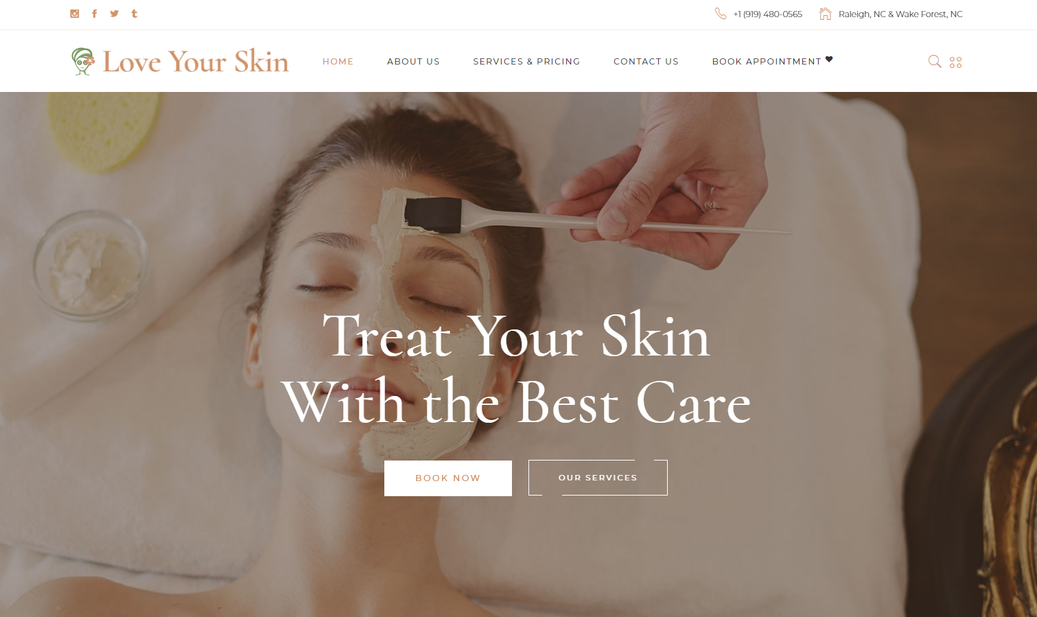 Developed a professional skin care / salon website with a beautiful design aesthetic.… Read more