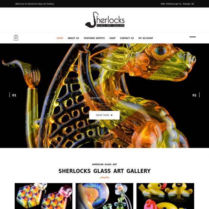Stylish and modern eCommerce for a glass art gallery.… Read more